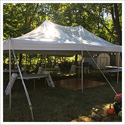 Pole Tent with Small Dance Floor